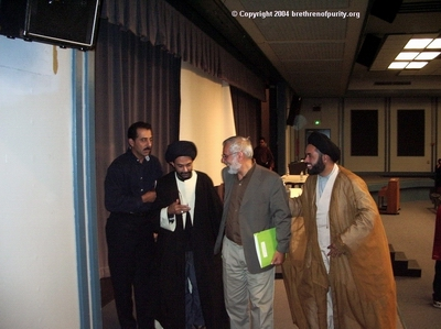 From right, Nabi Raza Abidi, Imam Muhammad al-Asi, Syed Abbas Ayleya and Saeed Ghalambor.