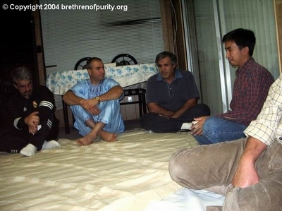 From left, Saeed Mohajer, Mohamad Antar, Hossein Falahati, and Zamani Zambri.