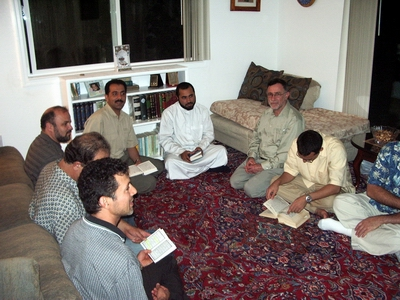 At the home of Hossein Falahati in San Jose, California.