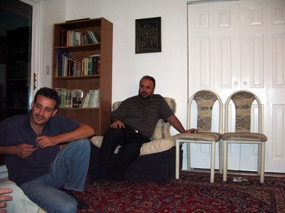 From left, Saleh Raad and Mohammad Rakhshandehroo.