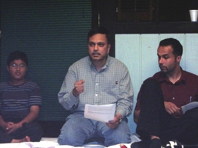 Syed Muhammad Haider Ali, center, of Shia Association of Bay Area (Saba Islamic Center).