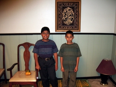 The first two kids of Nabi Raza.