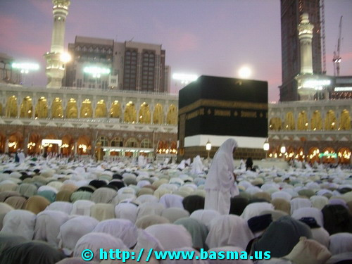 The Kaaba in Mecca, Saudi Arabia