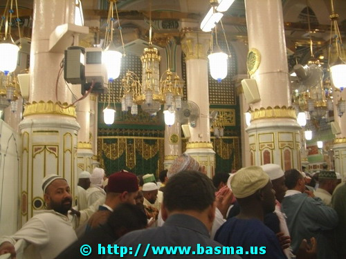 Ar-Rawdah an-Nabawiyah and the Tomb of Prophet Muhammad, PBUH&HF, in Medina (al-Madinah), al-Hijaz, Saudi Arabia.