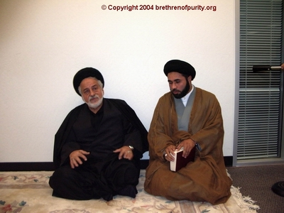 Nabi Raza Mir (a.k.a. Nabi Raza Abidi), right, and Seyyed Mahmoud Sedehi at SABA.
