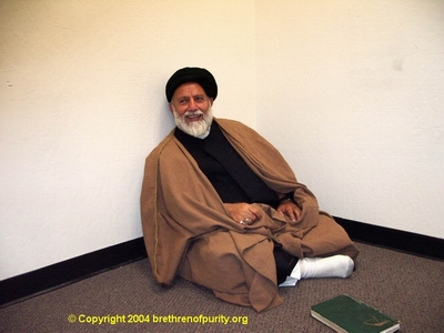 Mojtaba Beheshti resting during Ramadan at Saba Islamic Center in 2004.