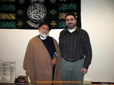 Inside Saba Islamic Center: Seyyed Mojtaba Beheshti, left, with Sam Bazzi.