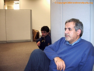 Inside Saba Islamic Center: Hossein Falahati, right, and Saeid Mohajer. Falahati has served in various capacities at SABA, including president, trustee, director, and advisor.