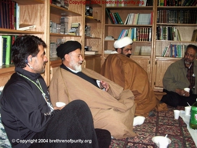From left, Saeid Mohajer, Seyyed Mojtaba Beheshti, Shaikh Musharraf Hussaini, and the SABA Center top dog Muzaffar Khan. Mojtaba Beheshti was jailed and then depored from the United States in 2007 due to his involvement in Green Card fraud.