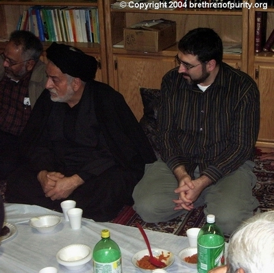 "From right, Sam Bazzi, Seyyed Mahmoud Sedehi, and Shia Association of Bay Area (Saba Islamic Center) co-founder and longterm trustee Muzaffar ""Mack"" Khan. Bazzi is the founder of the Islamic Counterterrorism Institute, which is focused especially on combatting terrorism emanating from within the Shia community."