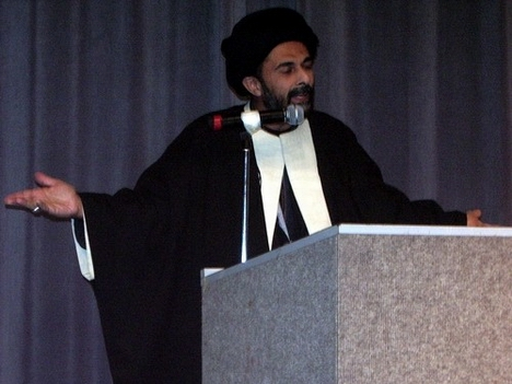 Syed Abbas Ayleya speaking at the 5th Annual Al-Hasnain Youth Conference in Milpitas, California.