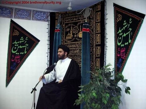Syed Ali Raza Rizvi addressing the congregation in Ramadan at Azakhana-e-Zahra, PBUH, in Milpitas, California.