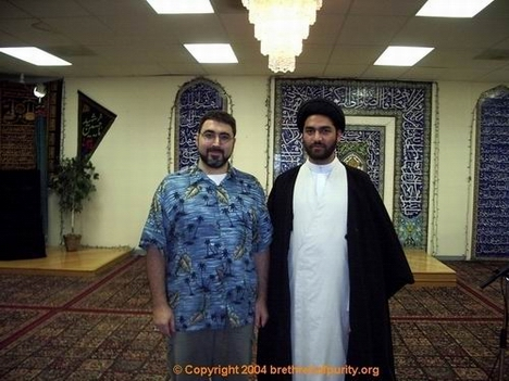 Syed Ali Raza Rizvi, right, with Sam Bazzi at Azakhana-e-Zahra, PBUH, in Milpitas, California.