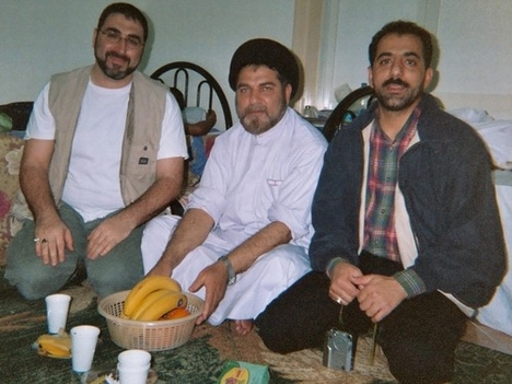 From left, Sam Bazzi, Syed Ehtisham Zaidi, and Saeed Ghalambor, in Mecca, Saudi Arabia, during the Hajj Season 1425 H.