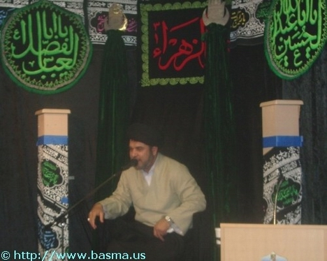 Syed Ehtisham Zaidi is visiting Azakhana-e-Zahra, PBUH, during Muharram 1427 H.