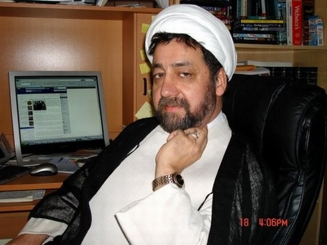 Sheikh Ahmad Iravani in his office